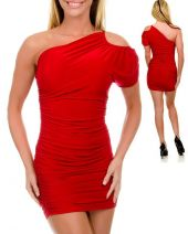 JFANY D USA  women's one shoulder dress red