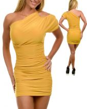 JFANY D USA  women's one shoulder dress yellow
